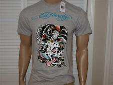 Ed Hardy Eagle & Skull T Shirt Heather Gray NWT