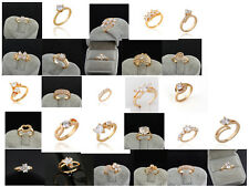 Hot Gorgeous 9K Gold Filled Cubic Zircon/Crystal Fashion Ring29Style U Pick 002