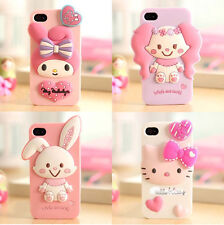 Cute 3D Cartoon Rabbit Animal Soft Silicone Case Cover For iPhone 6/6Plus/5S/4S