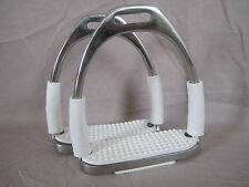 New Shock Absorb Quality Flexi Bendy Safety Stirrup Irons Stainless Steel (B)