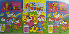A5 Blue Green Yellow Magic Painting Colouring Books (Add Water) Free UK Postage