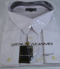 Stacy Adams Men's White French Cuff Dress Shirt