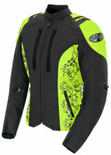 "*Ships Same Day* JOE ROCKET ""Ladies"" Atomic 4.0 (Black/Hi-Viz ) Textile Jacket"