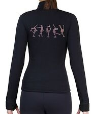Figure Skating Polartec Fleece Jacket Rhinestone JR224 - Rose Pink