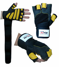 EVO Fitness Gym Gloves Weight lifting Wrist Support Straps,Bodybuilding,Cycling