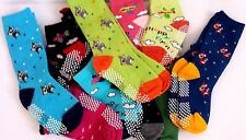 kids Toddlers non slip socks many cute styles Ankle calf Socks UP TO KIDS SIZE12