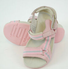 GENUINE FITFLOPS HYKA VELCRO STRAP FASTEN SANDALS (KIDS) GIRLS 'PINK/WHITE'