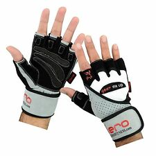 EVO Leather Weight Lifting Gloves Gym Straps GEL Wraps Cycling wheelchair Body