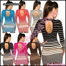 Sweater/Pullover Sexy Women's Long Sleeve Top Chains ONE SIZE 8,10,12,14 UK