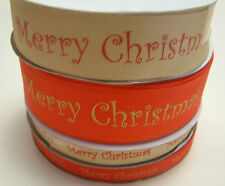 Full Roll of Christmas Ribbon - Various Designs - Red / Gold / Silver