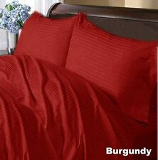"800TC Hotel Brand ""Burgundy"" Solid/Stripe 100%Cotton US Bedding Price@15.99"