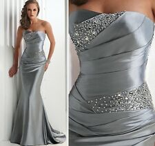 Stosk Charming Sweetheart Chiffon Formal Party Evening Long Prom Dresses Sz:6-16