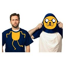 Jake Flip-Up Face Adventure Time Adult T-Shirt Reveal Finn New