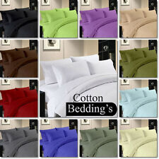 "Super Soft Color ""Full Size"" Hotel US Bedding Collection 1000TC 100%Cotton Solid"