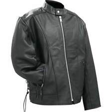 NWT Mens Solid Buffalo Black Leather Motorcycle CRUISER Jacket M L XL 2X 3X GIFT