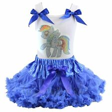 Pettiskirt Tutu Set * My Little Pony Rainbow Dash Birthday Party Pageant * NWT *