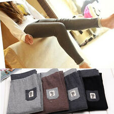 Women Girl's Winter Warm Cotton Stretch Tights Thermal Pants Leggings 23-30 Inch