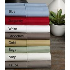 "Hotel Collection 1000TC ""UK/Euro Bedding 3PC Fitted Sheet"" Stripe Cotton"