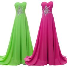 2013 Strapless Bridesmaid Evening Formal Party Ball Gown Prom Wedding Long Dress