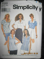 Simplicity Patterns # 9824 & 7110 Jacket & Blouse Tops Many designs to make