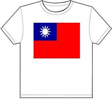 TAIWAN COUNTRY FLAG T-SHIRT TEE PICTURE PHOTO east asia china taipei new 1808