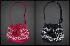 NWT HOLLISTER WOMENS VINTAGE FESTIVAL BAG NAVY OR PINK