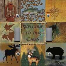 Light Switch Plate Switchplate & Outlet Covers CABIN LODGE MOOSE WILDLIFE