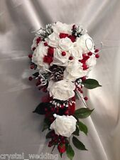 Winter Christmas wedding Bridal bouquet & bridal accessories collection