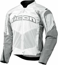 *FAST SHIPPING*  ICON Contra (White) Motorcycle Jacket  SPORT FIT