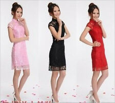 Fashion Chinese Womens Lace Cheongsam Party Gown/Evening Dress/Qipao New