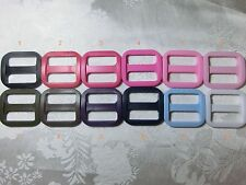 1'' (25mm) Wide Mouth Triglides Webbing Slides -Multi colors