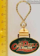 Sturdy key chain with an oval gold-toned Rumely Oil Pull Tractor shield