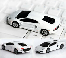 New  Cool !White Car Model USB 2.0 Full Memory Stick  Flash pen Drive 1-8GB