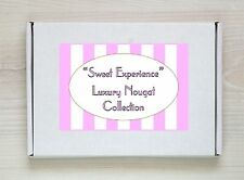 Nougat & Coconut Ice Retro Sweet Gift Box Personalised Present Pink & White