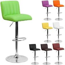 Stylish Retro Adjustable Height Metal Bar Stool Swivel Color Diner Seat Chair