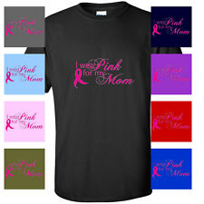 I WEAR PINK FOR MY MOM BREAST CANCER SHIRT Men's GUYS