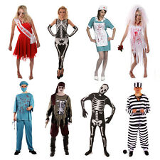 MENS LADIES WOMENS HALLOWEEN FANCY DRESS COSTUME OUTFITS BLOOD CHEAP SCARY NEW