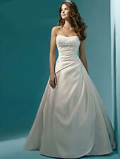 New Stock White/Ivory Bride Wedding Dress Uk Size 6-8-10-12-14-16-18-20-22-22-24