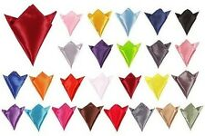 Classic Men Italian Square Satin Wedding Event Party Pocket Hanky Handkerchief