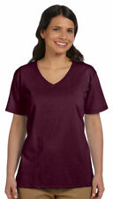Hanes Relaxed Fit Women's ComfortSoft V-neck T-Shirt. 5780