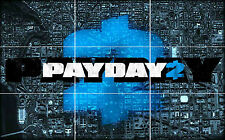 PAYDAY 2 GAME HUGE MOSAIC POSTER 35 INCH x 25 INCH