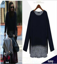 Q01 Ladies Stylish 2 in 1 Long Sleeve Crew Neck Quality Knitted Jumper / Top