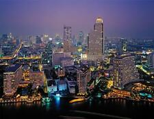 BANGKOK SKYLINE AT NIGHT GLOSSY POSTER PICTURE PHOTO thailand decor hanging 434