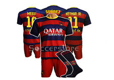 Messi Suarez Neymar Jr - Shirt Kids Boys Jersey Shorts Socks Trikot Brasil