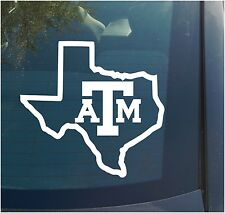Texas A&M Vinyl Decal Sticker state college football sports aggies gig em
