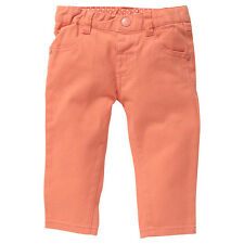 Baby Girls New With Tags Coral Fusion Orange Stretch Jeans/Pants- Size 3-18 Mths