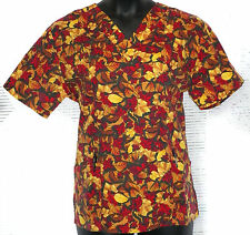 Trend NWT Printed Scrub top (4700) Fall Flowers (Tunic)