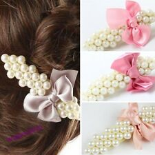 Lovely Sweet Women's Imitation Pearl Beads Bowknot Hairpin Hair Clip 9 Colors