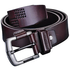 Free Shipping Men's Genuine leather Antique Casual Business Dress Waist Belt