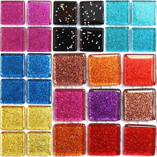 49 Glitter Mosaic Tiles 20mm - Various Colours